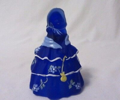 Boyd Glass Colonial Doll Louise #68 Cobalt Satin Hp Signed 27/125 B In Diamond