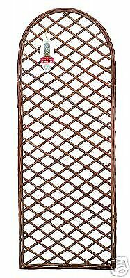 Gardman 45cm x 1.2m Framed Willow Trellis Panel Curved Top