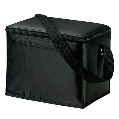 eBuyGB Lunch Time Insulated Cool Bag, Polyester, Black, 24.21 x 18.39 x 5 cm
