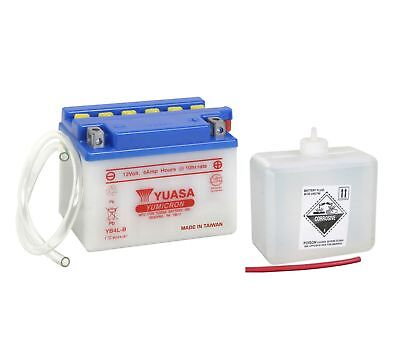 Yuasa YB4L-B Battery 12V 4AH + Acid Pack Motorcycle Motorbike Scooter YB4LB