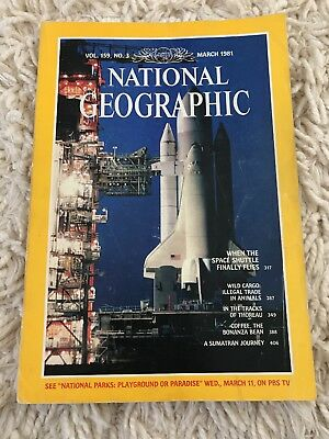 Vintage National Geographic Space Shuttle March 1981 Magazine