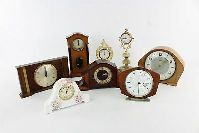 Lot of 8 x Vintage Mantle CLOCKS Mixed Designs SPARES&REPAIRS Inc.Smiths