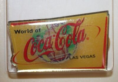 Vintage World of Coca Cola Pin Las Vegas Coke Store New in Sealed Package 1995