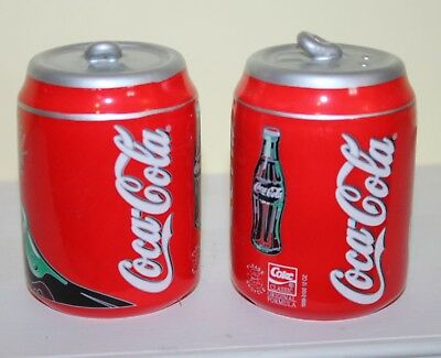Vtg Coca Cola Coke Salt & Pepper Shakers Gibson Refreshment Cans Home House New