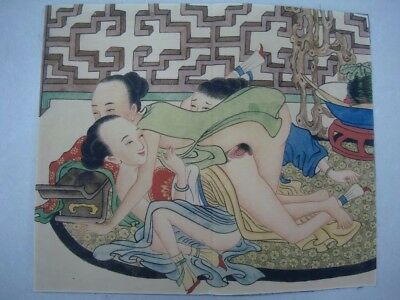 """Rare Old Chinese Paper Painting Figures Drawing """"ChunGongTu"""" Book"""