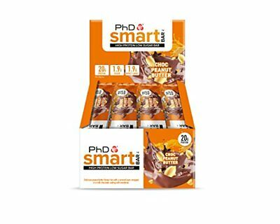 PhD Smart Bar High Protein Low Carb Bar Chocolate Peanut Butter, 64 g, Pack of 1