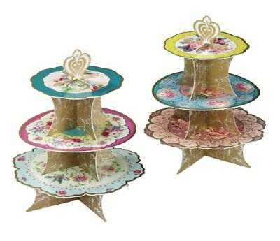 Talking Tables Truly Scrumptious Floral 3 Tier Cake Stand for Tea Party, Wedding