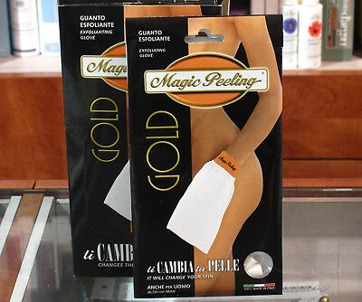 Magic Peeling Gold - Guanto Esfoliante in fibre Naturali 100% - Viso e Corpo
