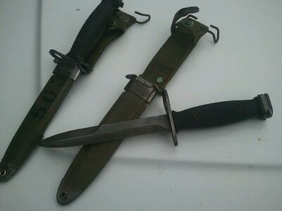 Vietnam Era Milpar Bayonet Fighting Knife with M8A1 Scabbard
