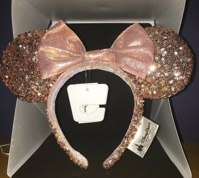 Authentic Minnie Mouse Ear Headband Rose Gold Disneyland Park