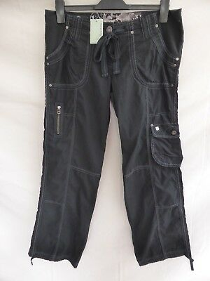 Bnwt Next Maternity Trousers Cargo Style Cotton Black Size 12 Regular