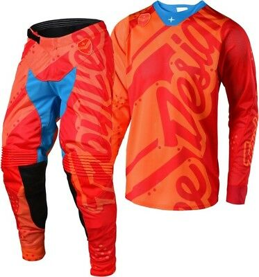 New 2018 Troy Lee SE Air Jersey Pant Kit 32 34 36 38 SHADOW HONEY/RED