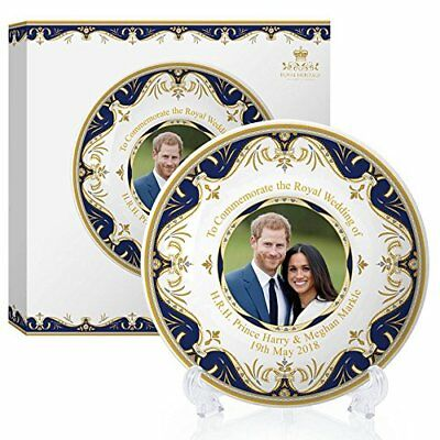 Royal Heritage H.R.H Harry and Meghan Markle Wedding Commemorative Plate, Fine C