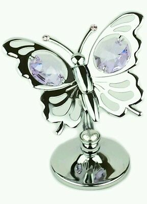 Butterfly Crystal Ornaments Gift Set Crystocraft Swarovski Elements Present