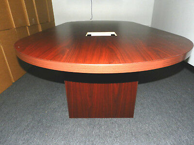 FOOT CONFERENCE Table Oval Racetrack Shape Laminate - 8 ft conference table