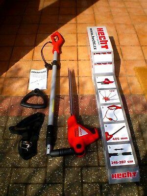 HECHT Long Reach Hedge Trimmer Telescopic Pole with Muilti Angle 460mm Blade