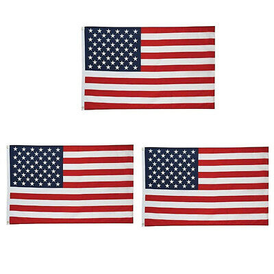 3Pcs 3x5 ft American Flag Grommets United States of America Banner Fast US