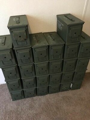 (4 Pack) Ammo Can US Army Military M2A1 50 Cal Ammunition Metal Storage
