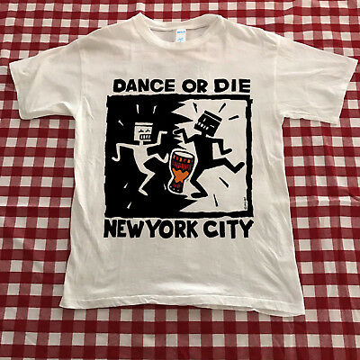 Vintage 1990's Dance or Die KEITH HARING NYC New York City T Shirt Reprint