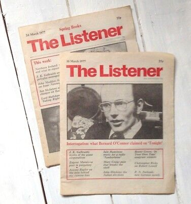 The Listener magazine x2 - March 1977