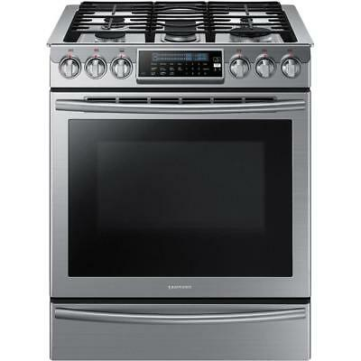 Samsung 30 5.8 cu Slide-In Gas Range Self-Cleaning Convection Oven Stainless