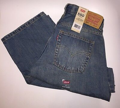 NWT Boy's Levi's 550 Relaxed Tapered Leg Jeans Size 9 Husky (29W x 25L)