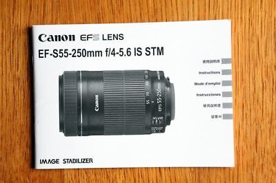 instruction manual for canon 55 250mm stm lens 10 99 picclick rh picclick com Canon GL1 ModelNumber Canon GL1 Review