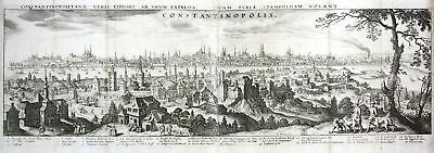 1650 Istanbul Constantinople Türkei Turkey Panorama Kupferstich antique Merian