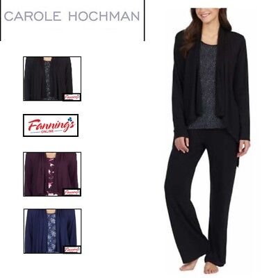 SALE! Midnight by Carole Hochman Ladies' 3-piece Pajama Set SIZE / COLOR VARIETY