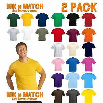 2 PK-Fruit Of The Loom tshirts Tops-Mens Soft spun Tshirt