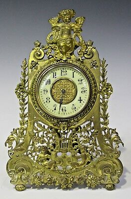 Late 19Th Century French Brass Cased Strut Clock