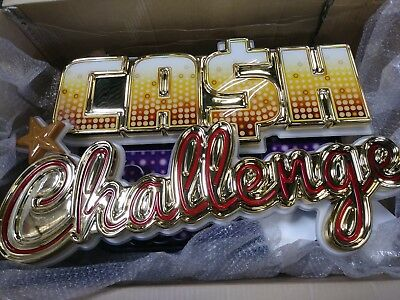 Slot Topper Sign Cash Challange - Light Up! Brand New In The Box!