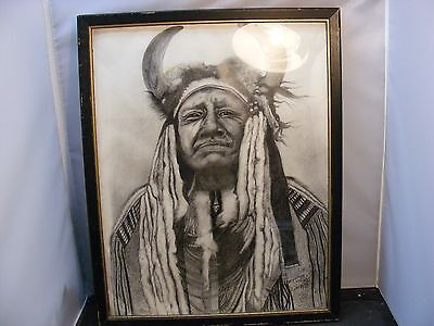 native american indian cheif painting