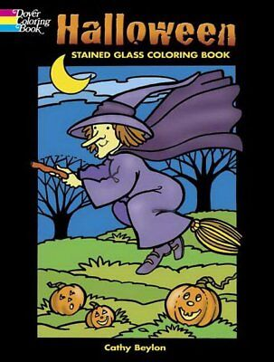 Halloween Stained Glass Window Coloring Book