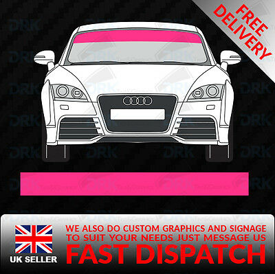 Pink Windscreen Sunstrip Car Van Decals Graphics Stickers Racing Vinyl