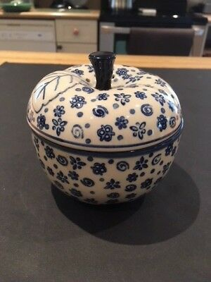 Polish Pottery Pair of Apple Bakers
