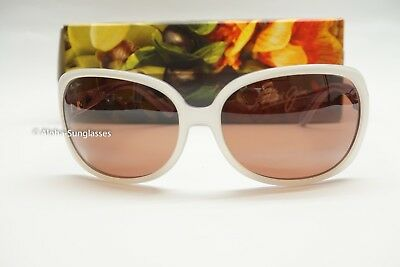 NEW Maui Jim Rainbow Falls Polarized White Pearl HCL Polarize Sunglasses womens
