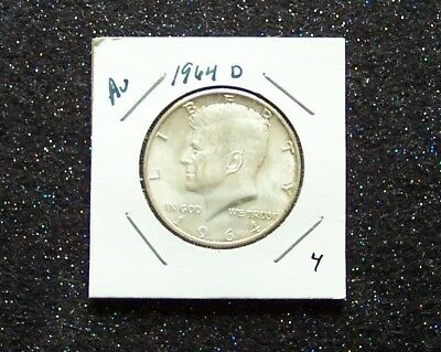 1964 D Kennedy Silver Half Dollar  --Au --  Lots Of Lustre