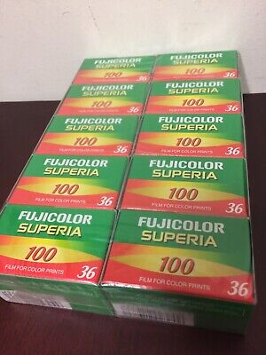 10 Rolls Fujifilm Fujicolor 100 36  Exp Color Print 35mm Film Fuji