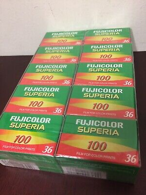 10 Rolls Fujifilm Fujicolor 200 24 Exp Superia Color Print 35mm Film Fuji