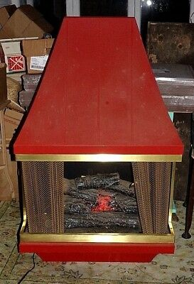 Vintage Mid Century Modern 1960s Electric Fireplace Heater Montgomery Ward