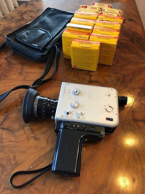 NIZO S560 Super 8 Camera working condition with leather bag and 14 reels of film