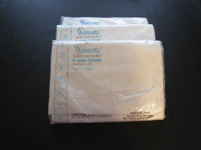 Lot of 3 Vintage White Ultracale Wamsutta Double Flat Sheets NOS