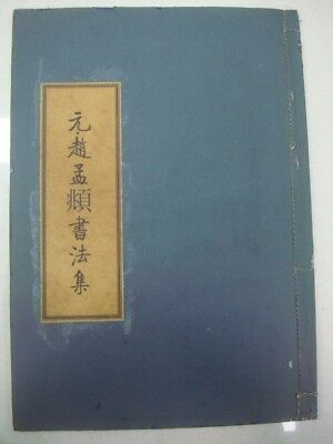 Rare Old Chinese Calligraphy Handwriting Book Signed ZhaoMengFv