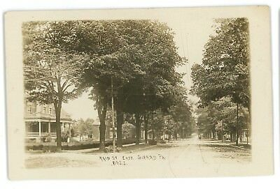 RPPC Main Street View GIRARD PA Erie County Pennsylvania Real Photo Postcard