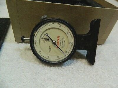 Starrett 640JZ Dial Depth Gage Push Indicator w/Box Vintage In GC Made In USA