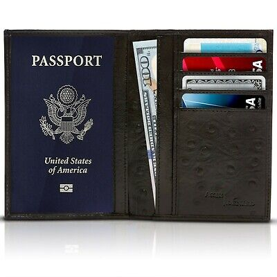 New Leather Travel Passport Holder Wallet For Men and Women Unisex RFID Blocking