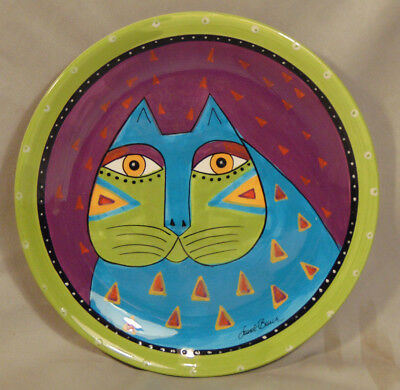 "Vintage Ganz Abstract Painted Cat Desert Plate by Laurel Burch 8.25"" x 8.25"""