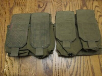 (2) Eagle Industries Mag Pouches Molle Coyote Brown USMC MSM4 USGI!! Exc. Cond!!