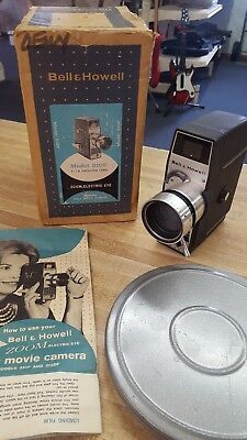 Vintage Bell & Howell Movie Camera 8mm Roll Film Model 310F Electric Eye Zoom